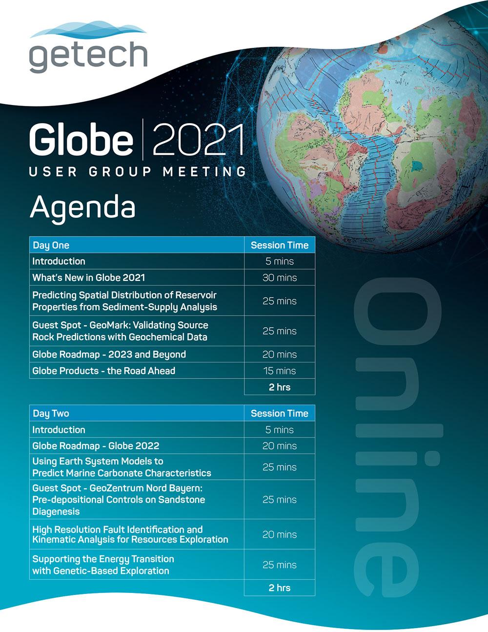 Getech Globe Agenda 2021